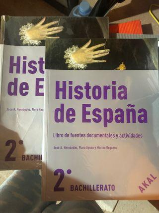Libro de Historia 2 bachillerato + anexo