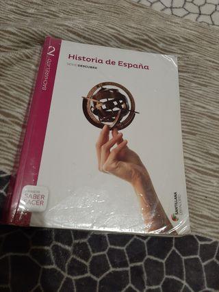 Libro de Historia de España segundo bachillerato