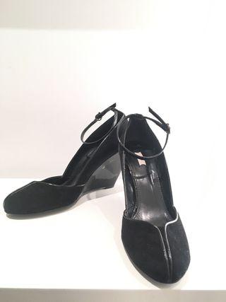 Zapatos de cuña fiesta. Zara. T41