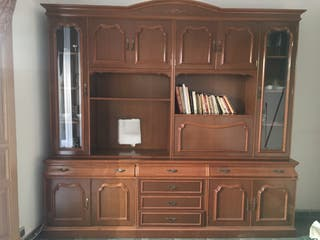Mueble de salón de madera maciza