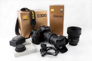 CAMARA NIKON D300 + OBJETIVO 18-200mm + ANGULAR 30