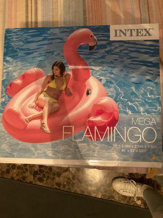Colchoneta flotador ENORME flamenco