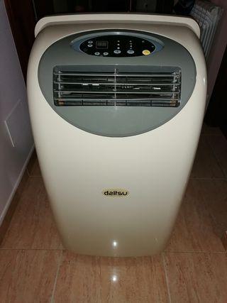 Aire acondicionado portatil con bomba de calor.