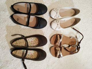 Zapatos niña talla 32 (lote 4 pares)