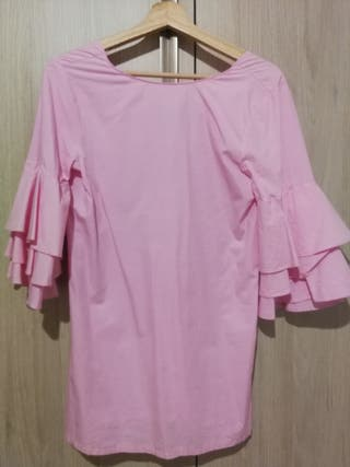 Vestido rosa de Zara