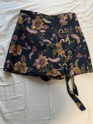 Falda pantalón floral