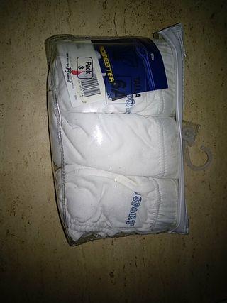 pack 3 calzoncillos blancos talla 6