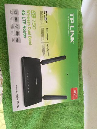 Router 4 g tarjeta sin