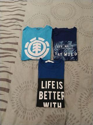 lote 3 camisetas niño