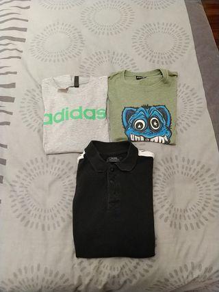 lote 3 camisetas niño manga corta