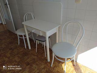 mesa cocina plegable y 2 sillas