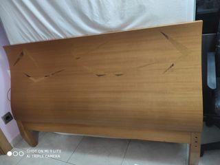 Cabecero 135cm + 2 mesitas + tocador/cómoda