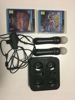 Pack 2 mandos Move PS3 y 3 juegos