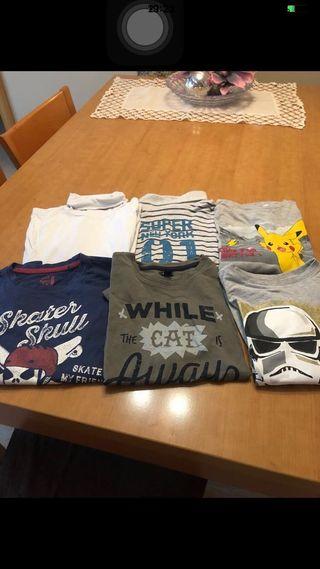 Lote 6 camisetas de manga larga niño
