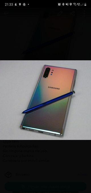 Samsung note 10 plus aura Glow