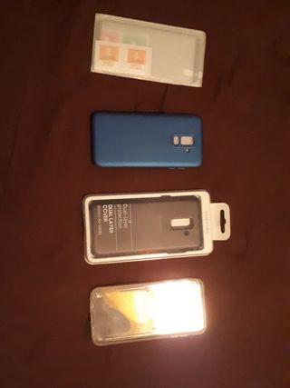 3 fundas Samsung a6 plus y cristal templado