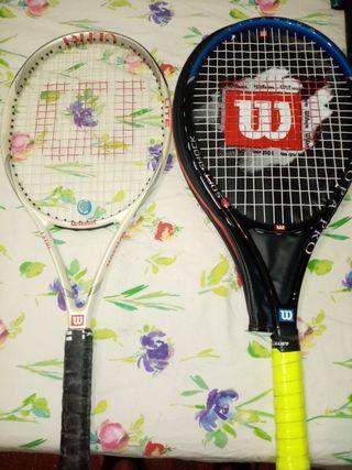 Dos raquetas Wilson originales miy buena calidad
