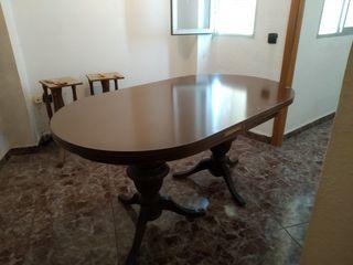 mesa de salón con cristal
