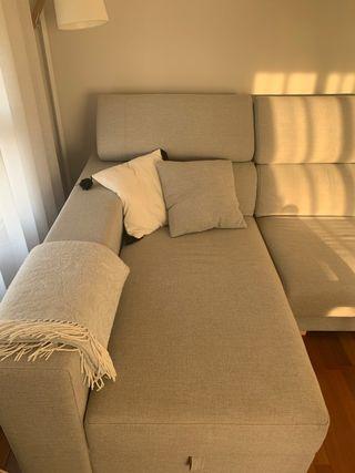 Sofá chaiselongue de 3 plazas color gris