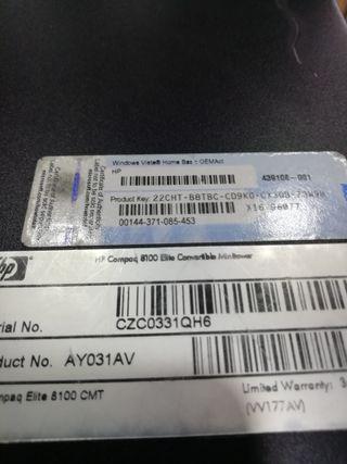 Torres HP Compaq 8100 Elite Intel Core i5