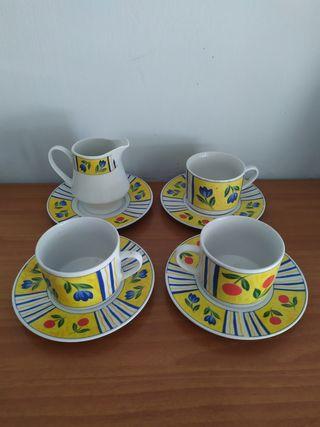 Tazas de café té porcelana