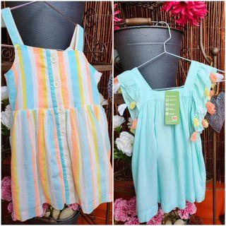LOTE 2 vestidos niña NUEVO CON ETIQUETA