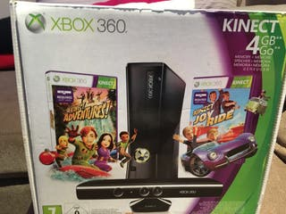 XBOX 360 kinect 4GB y 5 juegos