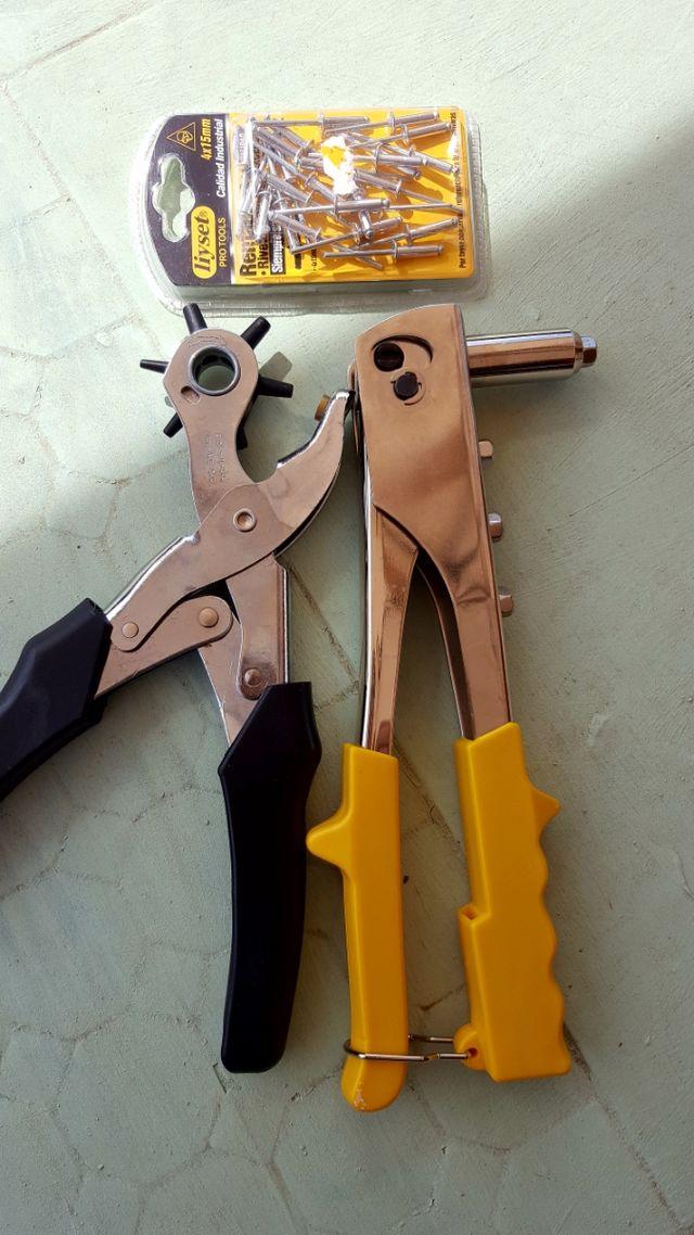 Alicate Perforadora y Remachadora