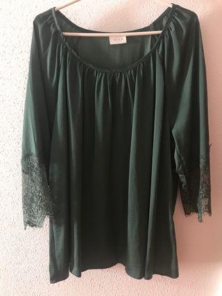 Blusa verde botella VILA