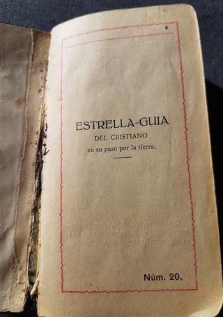 libro religioso Estrella guía del cristiano 1926
