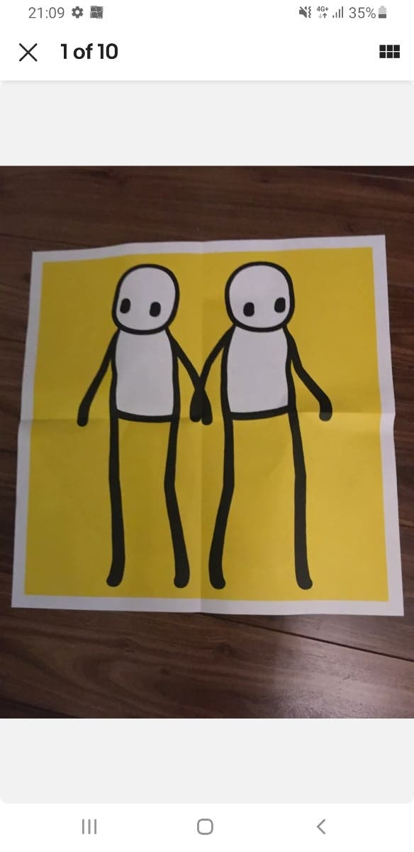 stik holding hands poster, limited edition