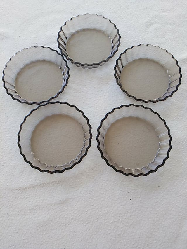 5 moldes tartaletas