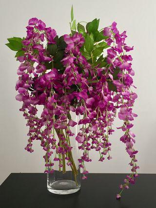 Ramo de 11 tallos florales artificiales. Flores