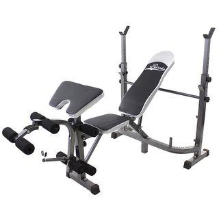 Banco Musculación con Juego de Pesas de 90 kg