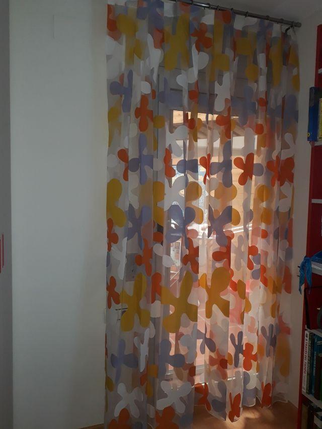 cortinas organza estampadas.