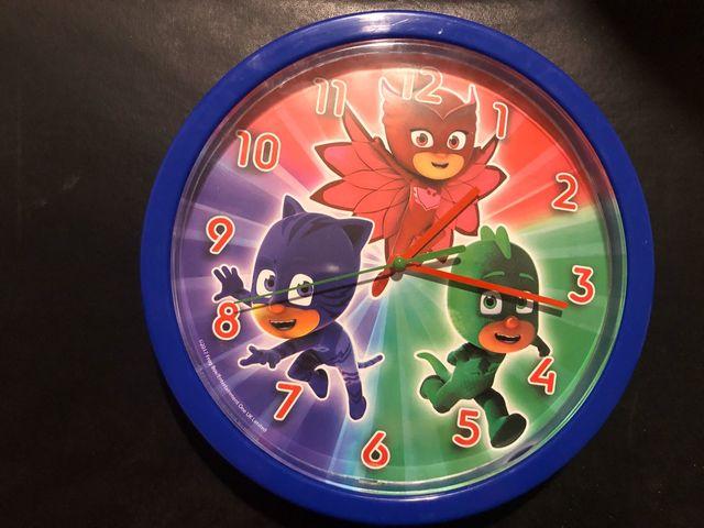 Reloj de pared infantil PJMask