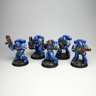 10 Ultramarines, escuadra táctica, top painted