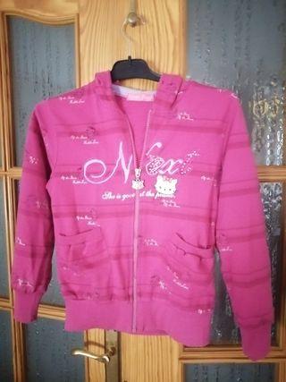 chaqueta chándal niña, con capucha