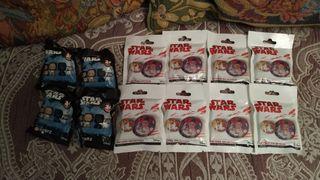 Lote sobres escudos galácticos y bustz Star Wars