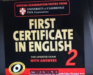 First certificate in English with answers.