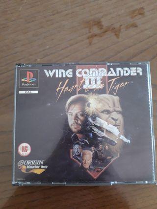 wing commader 3 (1994) para la play station 1