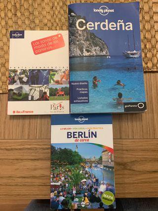Pack de guías de viaje Cerdeña, Berlín, Paris