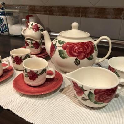 Juego Cafe té porcelana tazas vajilla
