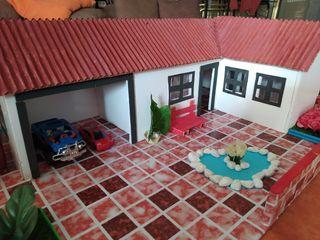 casa chalet maqueta en cartón