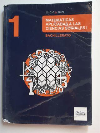 LIBRO MATEMÁTICAS 1 BACHILLERATO CIENCIA SOCIALES