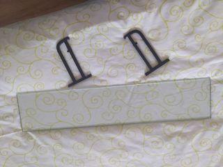 Balda de cristal con soporte en forja