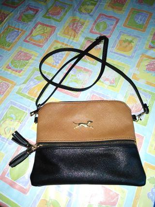 Bolso pequeño bandolera negro/marrón