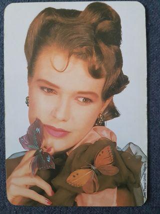 Calendario de bolsillo mujer salón belleza 1995