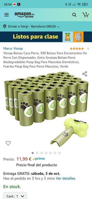 399 bolsas cacas perro