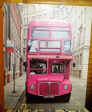 cuadro autobús rosa como nuevo